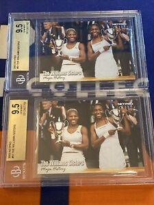 Lot (2) 2003 NetPro The Williams Sisters 51 Rookie BGS 9.5 GEM MINT SERENA VENUS