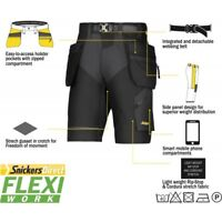 Snickers 6904 FlexiWork Ripstop Shorts New Snickers Shorts SnickersDirect Black