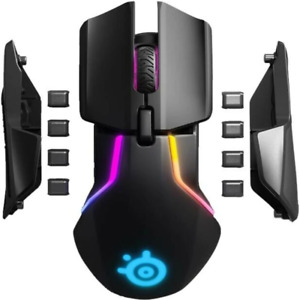 NEW SteelSeries Rival 650 Wireless Gaming Mouse Black RGB Customisable Dual Sens