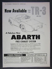 1960 Triumph TR3 Abarth Free-Exhaust System vintage print Ad