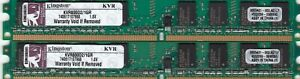 2GB 2x1GB KINGSTON KVR800D2/1GR DDR2-800 PC2-6400 DESKTOP RAM KIT LOW PROFILE