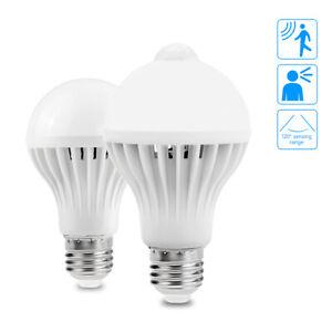 5W 7W 9W 12W E27 PIR Infrared Motion Sensor Bulb Smart Detective Lamp LED Light