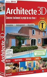 Architecte 3D Silver 2010 -Ensemble complet -1 licence -CD -Win -français - NEUF