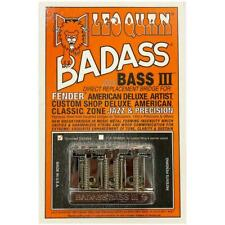 Leo Quan Badass Bass III Bridge 4 String Grooved Saddles Chrome
