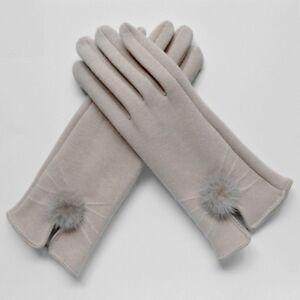 Women Winter Gloves With Fur Wool Ladies Ball Soft Elegant Warm Elegant Fashion