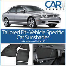 Jaguar X Type 4dr 04-09 UV CAR SHADES WINDOW SUN BLINDS PRIVACY GLASS TINT BLACK