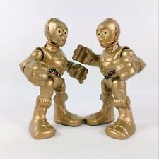 "Lot2pcs Star Wars Galactic Heroes 2.5"" Playskool C-3PO Action Figure Toys Gift"