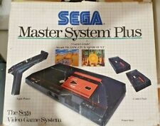Sega Master System Boxed Console With Light Gun and Built in games.