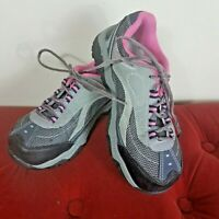 Brahma Womens Steel Toe Work Boots Shoes Gray Pink size 6 Leather Slip Resistant
