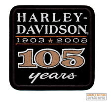 HARLEY DAVIDSON 105TH ANNIVERSARY PATCH AUTHENTIC VEST JACKET PATCH