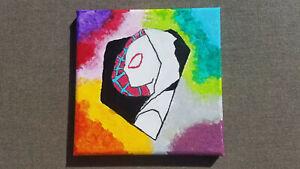 Spider Gwen, Ghost Spider, Spider-Gwen Original Painting on Canvas, Marvel