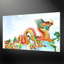 "CHINESE DRAGON COLOURFUL PICTURE POSTER BOX CANVAS PRINT 20""x16"" FREE UK P&P"