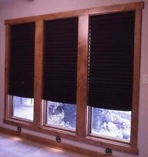 "Black Out Pleated Shade Window Blinds 48"" x 72"" 6 Pack Room Darkening Treatment"