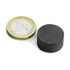 Super Magnete Disco in Ferrite dimensione 20 x 10 mm Potenza 1,4 Kg.