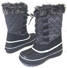 Womens' Winter Boots Fur Warm Insulated Waterproof Zipper Ski Snow Shoes Sizes