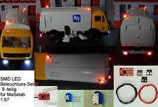 SMD LED Beleuchtungsset 9-tlg. mit Anschlußmodul Orange Blinklicht Spur H0 C2847