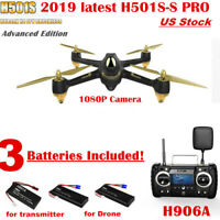 Hubsan H501S PRO FPV Drone 5.8G Brushless 1080P RTH GPS RC Quadcopter RTF,2019