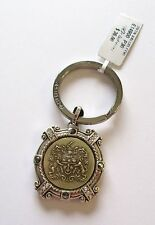 Brighton Devotional Honor Key Fob/Chain-silver -coat of arms -valor above all