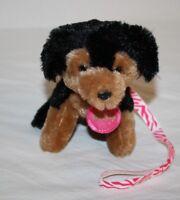 """GUND Plush Puppy Dog Mini 5"""" Molly Pink Collar Leash Rottweiler Soft Toy Stuffed"""