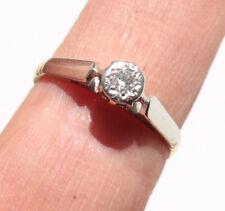 BAGUE SOLITAIRE ANCIENNE EN OR 18 K carat cts 750/1000 PLATINE diamant bijou