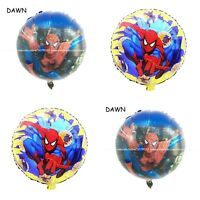 Spiderman super Hero  X4 Balloons Cartoon helium party birthday Boys Avengers 3