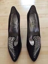 NEW Black with Sequin Designer Dress Shoe –Charles Jourdan- 9.5B