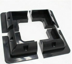 BLACK Solar Panel Corner Mounting Bracket ABS Drill-Free Mount for Roof RV Boat