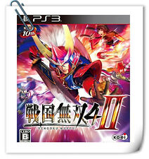 PS3 PLAYSTATION Games Sengoku Musou Samurai Warriors 4-II Action Koei Tecmo