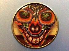 """1"""" Day Of The Dead Skull Muertos Goth Tattoo Ink Metal Shank Button Sewing TA2"""