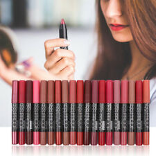 19 Colors Waterproof Matte Lipstick Lip Gloss And Liquid Pencil With Sharpener