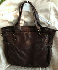 Sundance Catalog Brown Leather Tote Bag Large
