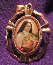 St Terese of Lisieux Medal Little Flower of Jesus Coppertone Feast Day October 1