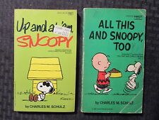 1962/82 SNOOPY by Charles M Schulz Paperback LOT of 2 VG-/VG+ Up And At 'Em