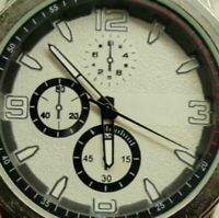 Japan Movement PC21J Chronograph St. Steel Back Watch Analog Quartz New Battery