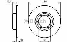 2x BOSCH Disques de Frein Avant Plein 227mm pour RENAULT R4 R12 0 986 478 103