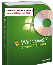 Microsoft Windows 7 Home Premium CD DVD Lizenzaufkleber 32Bit 64Bit
