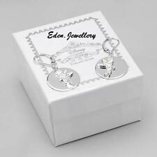 US$190 Collectible Disney Couture TINKERBELL Crystal Earrings 925 Sterling Siver