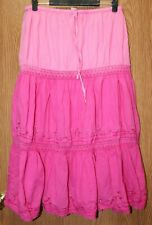 Womens Comfy Pink Fade Bobbie Brooks Flat Front Skirt Size Large 12 14 very good
