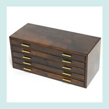 Japanese Traditional Wood Fountain pen storage box 5 steps Japan Brand New