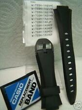 Casio watch band W-733 H Black. Original Two-Piece Strap Resin With Attaching P
