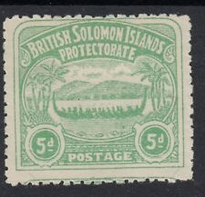 BRITISH SOLOMON ISLANDS SG5, 5d emerald-green, M MINT. Cat £55.