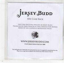 (GD445) Jersey Budd, She Came Back - 2008 DJ CD
