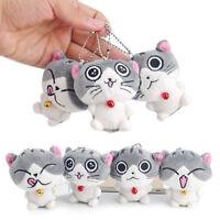 1*Cute Cat Plush Doll Toy Stuffed Animal Bolster Key chain Keyring Sell Random