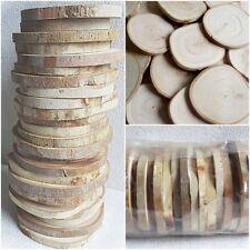 50 x Holzscheiben Baumscheiben Astscheiben 5-7 cm rund Hochzeit Bastel Deko
