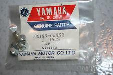 4 nos Yamaha atv motorcycle snowmobile vintage  5 mm flange nuts vmax540 vmax