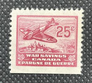 1940 Canada WWII FWS6 25c Spitfire War Savings Revenue Stamp MLH /B-90