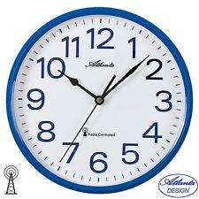 Atlanta 4378/5 Horloge murale Radio-pilotée Analogue Bleu Blanc Rond Ø Env. 25 5