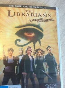 DVD (x3) THE LIBRARIANS COMPLETE THIRD SEASON 2017 FILING EVIL UNDER HISTORY