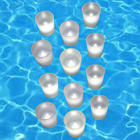 12pc Battery Operated Flickering WHITE LED Tealights Votive Tea Lights Flameless