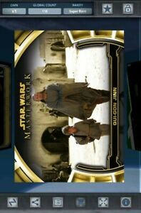 Topps Star Wars Card Trader - Qui-Gon Jinn Gold Masterwork Defining Moments